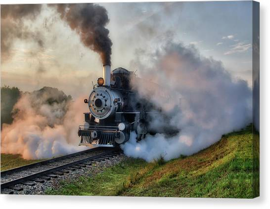 Steamy Departure Canvas Print