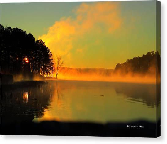 Steamy Sunrise Canvas Print