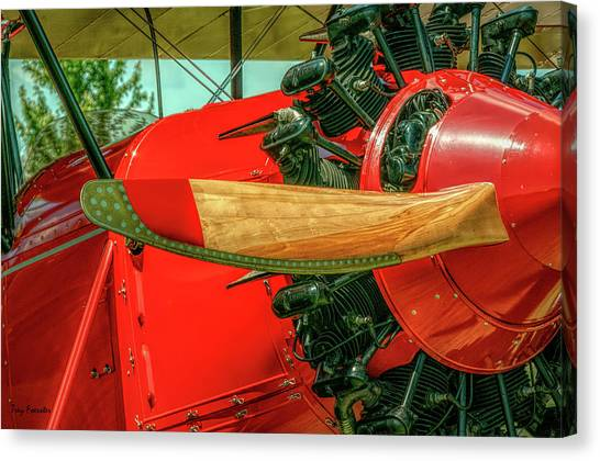 Stearman C3b Biplane Canvas Print
