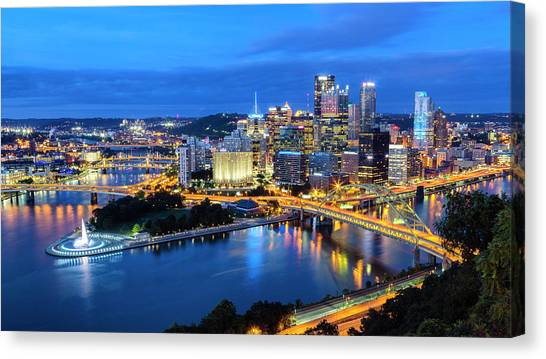 Carnegie Mellon University Canvas Print - Steel City Nights #1 by Stephen Stookey