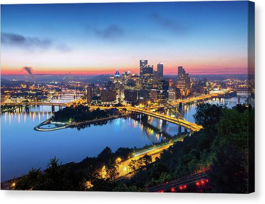 Carnegie Mellon University Canvas Print - Steel City Sunrise by Stephen Stookey