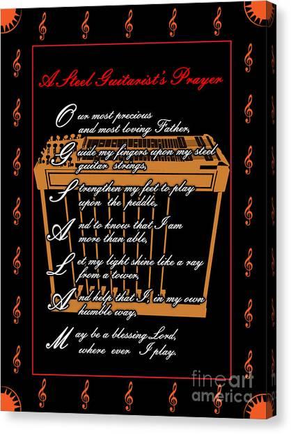 Steel Guitarist's Prayer_2 Canvas Print by Joe Greenidge