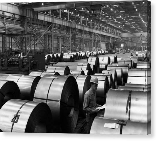 Hard Hat Canvas Print - Steel Mill by Everett