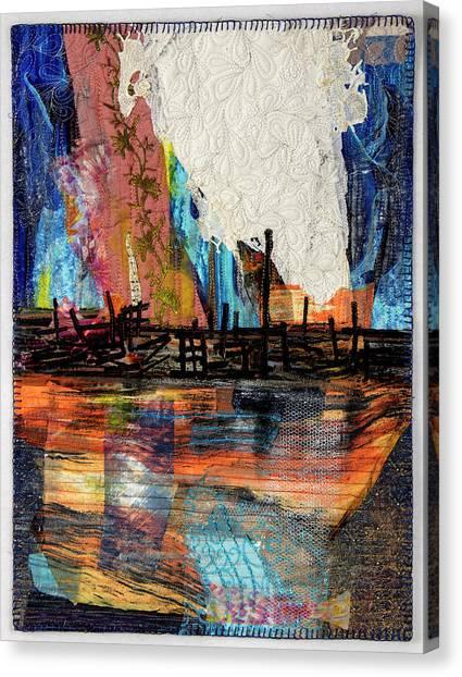 Steel Mills At Night Canvas Print