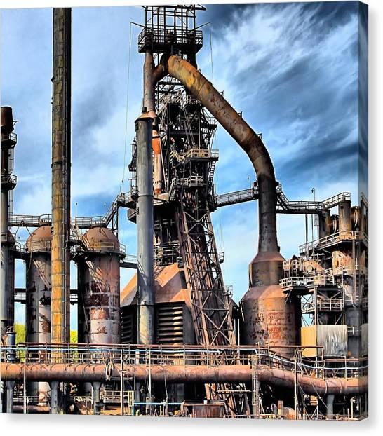 Steel Stacks Bethlehem Pa. Canvas Print