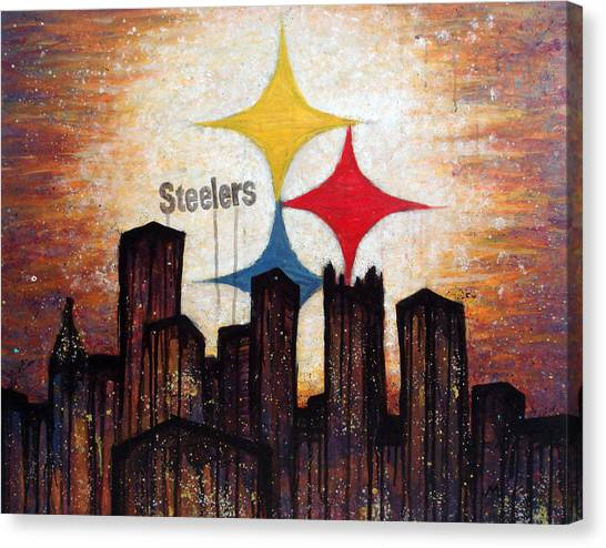 Pittsburgh Steelers Canvas Print - Steelers. by Mark M  Mellon