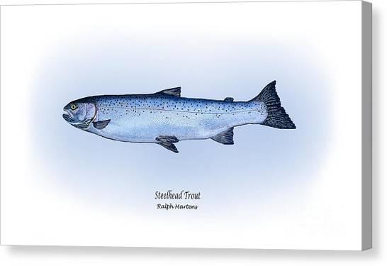 Angling Art Canvas Print - Steelhead Trout by Ralph Martens