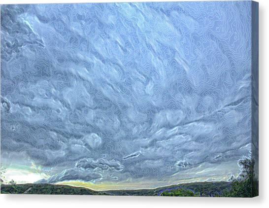 Steely Blue Sky Canvas Print