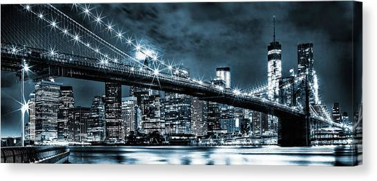 New York Skyline Canvas Print - Steely Skyline by Az Jackson