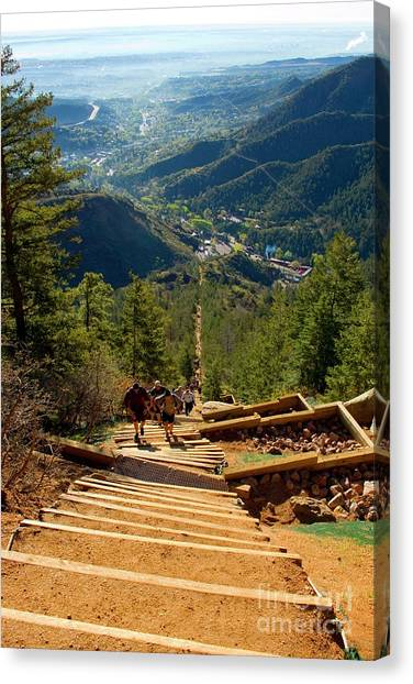 Steep Manitou Incline And Barr Trail Canvas Print