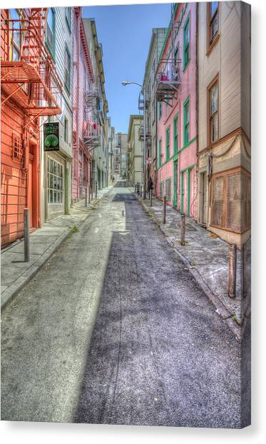 West Canvas Print - Steep Street by Scott Norris