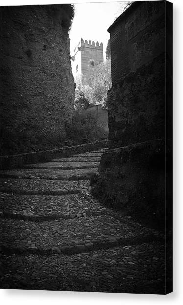 Steep Walk To The Tower Canvas Print by Jez C Self