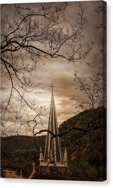 Steeple Of Time Canvas Print