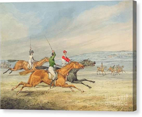 Horseracing Canvas Print - Steeplechasing by Henry Thomas Alken