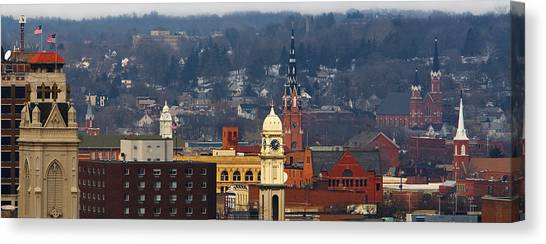 Steeples Of Dubuque Canvas Print