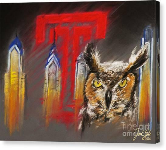 Temple University Canvas Print - Stella by Jordan Spector