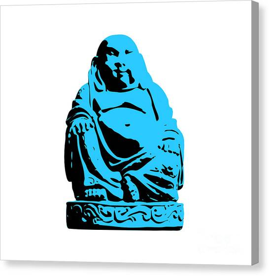Andy Warhol Canvas Print - Stencil Buddha by Pixel Chimp