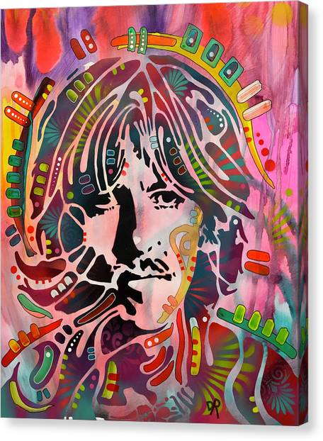 George Harrison Canvas Print - Stencil Harrison by Dean Russo Art