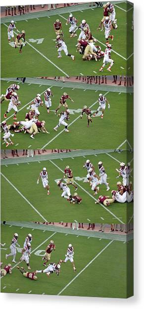 Boston College Canvas Print - Step By Step College Football by Betsy Knapp