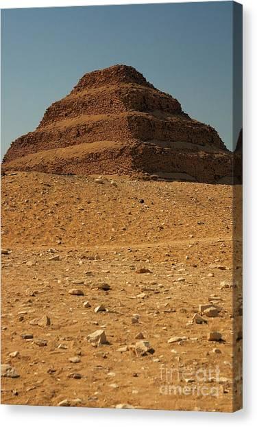 Step Pyramid Canvas Print