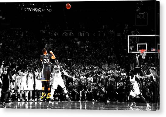 Kobe Bryant Canvas Print - Steph Curry Its Good by Brian Reaves