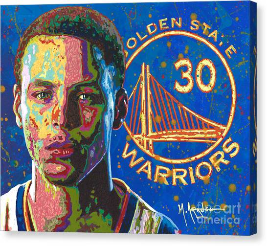 Stephen Curry Canvas Print - Steph Curry by Maria Arango
