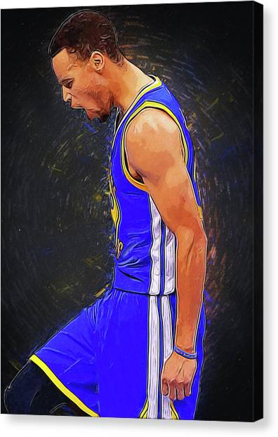 Dwight Howard Canvas Print - Steph Curry by Semih Yurdabak