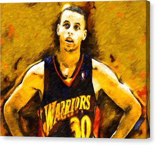 Stephen Curry Canvas Print - Steph Curry What A Jumper by John Farr