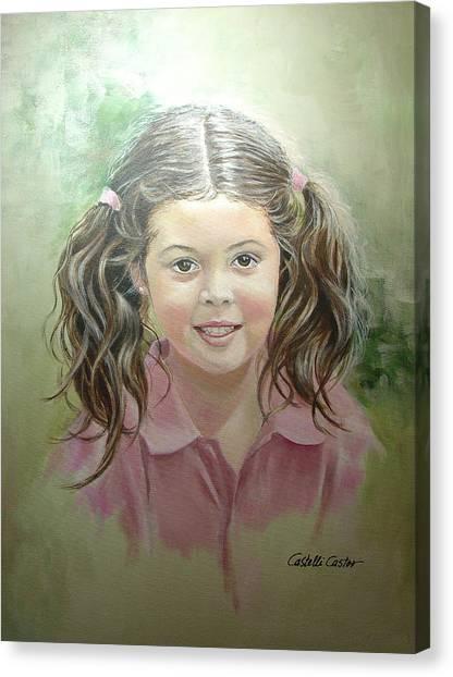 Stephanie Canvas Print by JoAnne Castelli-Castor
