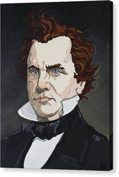 Canvas Print featuring the painting Stephen A. Douglas by John Gibbs