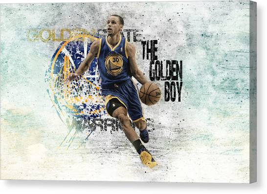 Stephen Curry Canvas Print - Stephen Curry by Bert Mailer