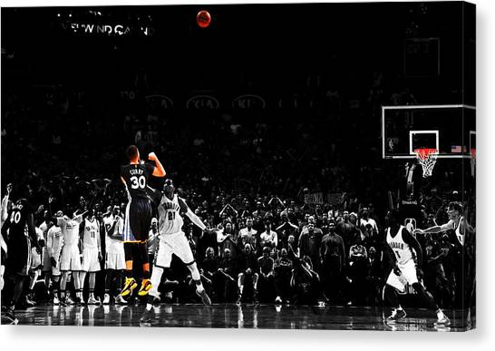 Stephen Curry Canvas Print - Stephen Curry Its Good by Brian Reaves