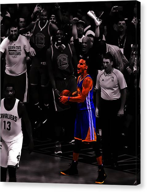 Stephen Curry Canvas Print - Stephen Curry Sweet Victory by Brian Reaves