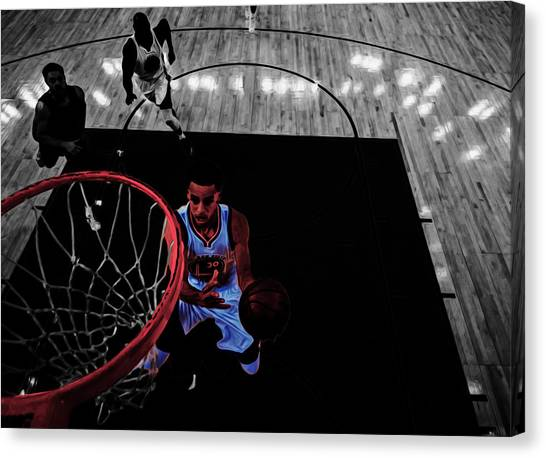 Three Pointer Canvas Print - Stephen Curry Taking Flight by Brian Reaves