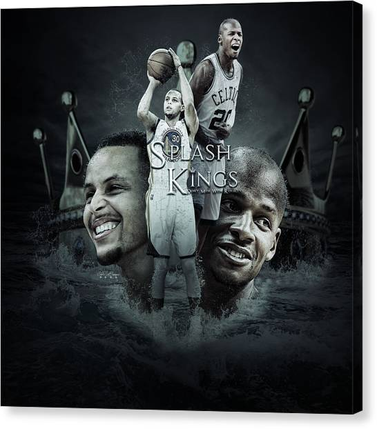 Stephen Curry Canvas Print - Stephen Curry X Ray Allen  by Jake Barger
