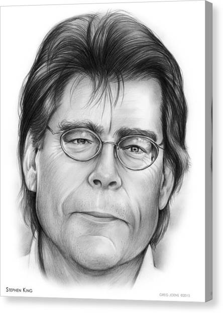 Kings Canvas Print - Stephen King by Greg Joens