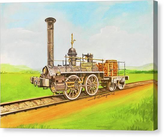 Canvas Print - Steam Engine Mississippi by Johannes Margreiter