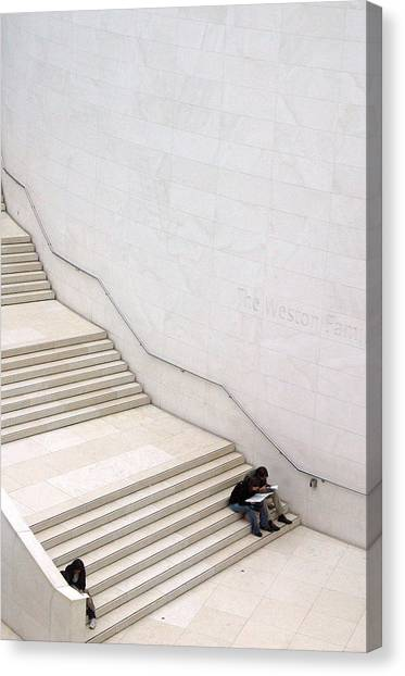 Stepping Down Canvas Print by Jez C Self
