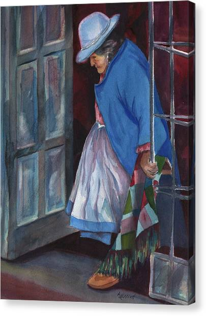 Peruvian Canvas Print - Stepping Out by Marsha Elliott