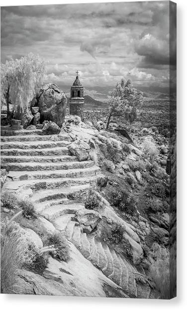 Steps And Peace Tower Canvas Print by G Wigler