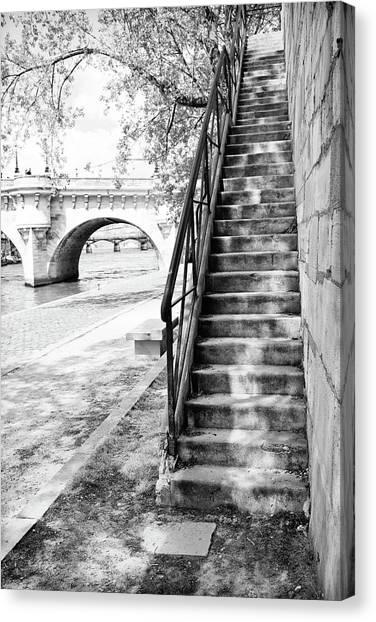 Steps By Pont Neuf, Paris Canvas Print