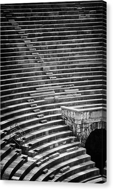 The Amphitheatre Canvas Print - Steps Of Verona Arena  by Carol Japp