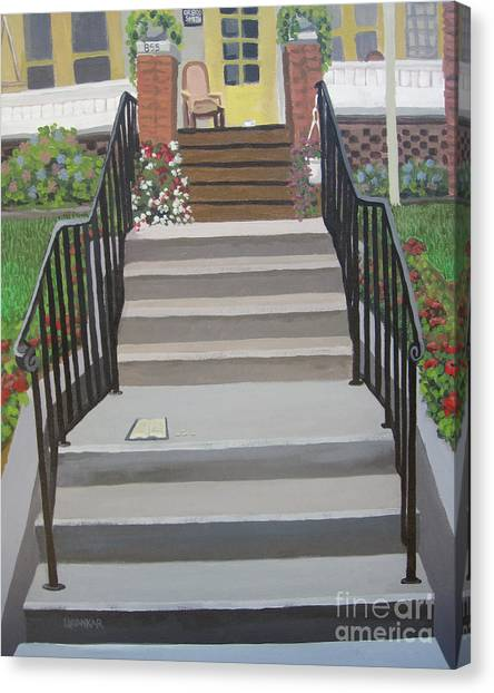 Steps To Recovery Canvas Print by Lisa Urankar