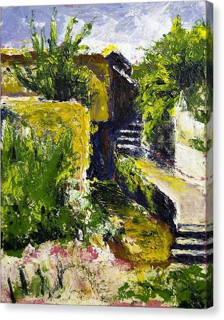 Steps To San Martin Canvas Print by Robert Sako