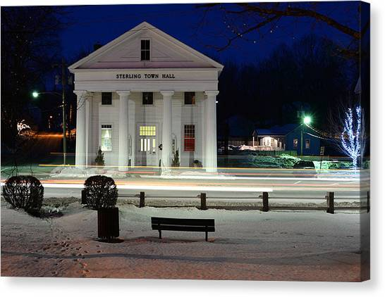 Canvas Print featuring the photograph Sterling Town Hall by Robert McKay Jones