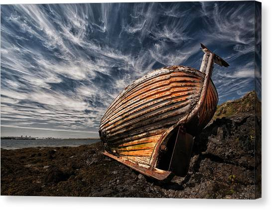 Decay Canvas Print - Stern Boat by ?orsteinn H. Ingibergsson