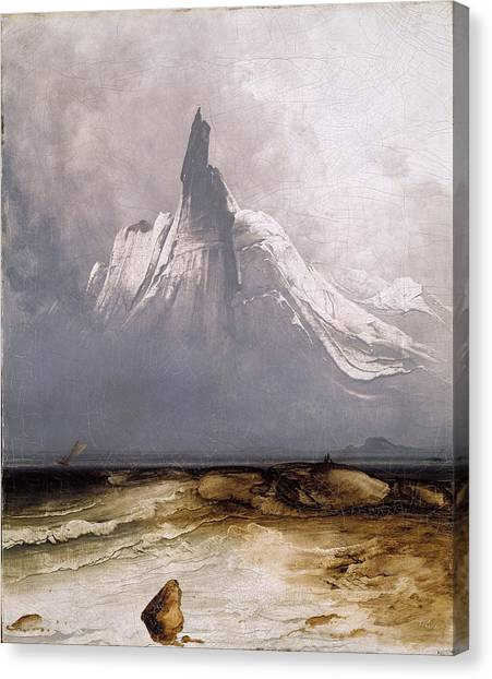Stetind In Fog Canvas Print