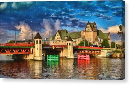 Stettin Bridge - Pol890431 Canvas Print