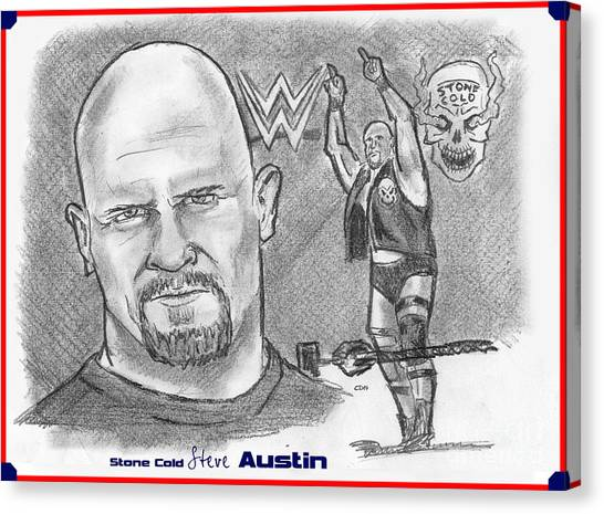 Steve Austin Canvas Print - Steve Austin by Chris  DelVecchio