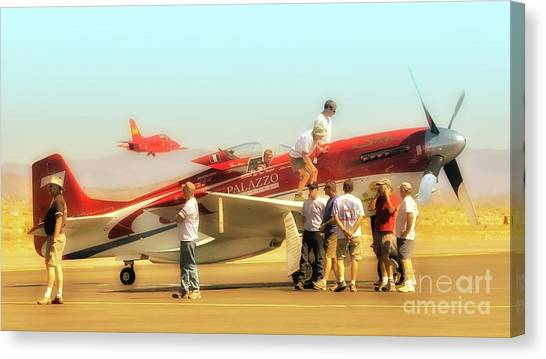 Steve Hinton And Strega Posse Take A Break       Canvas Print